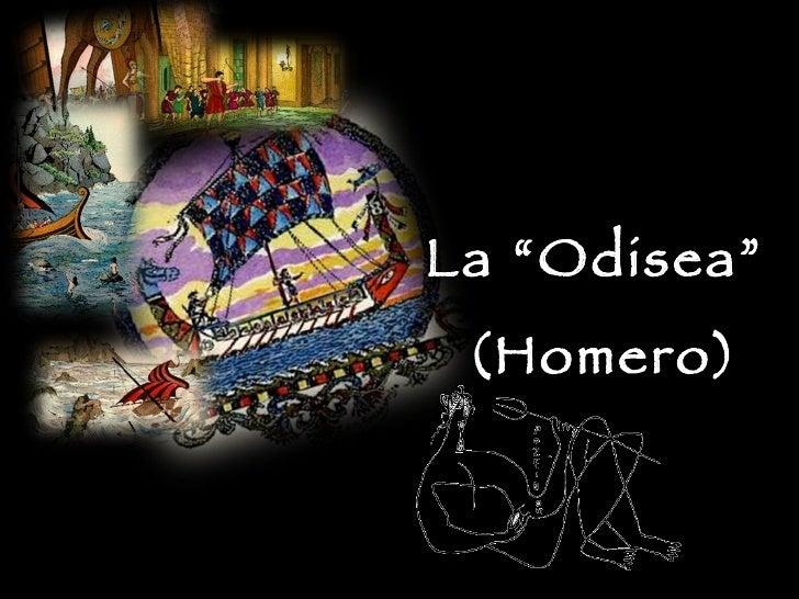 "La ""Odisea""  (Homero)"