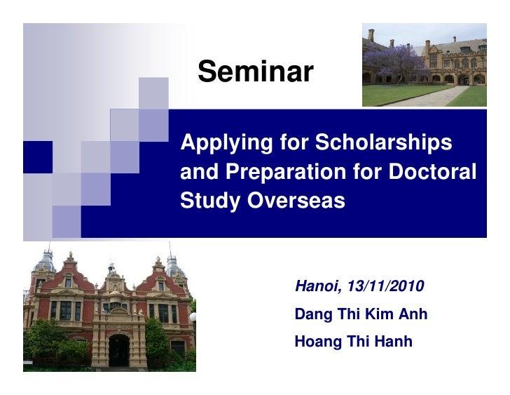 Ulis Scholarship Seminar Dang Kim Anh Hoang Hanh Khoa Su Pham Ta