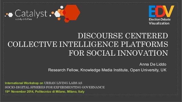 DISCOURSE CENTERED  COLLECTIVE INTELLIGENCE PLATFORMS  FOR SOCIAL INNOVATION  International Workshop on URBAN LIVING LABS ...