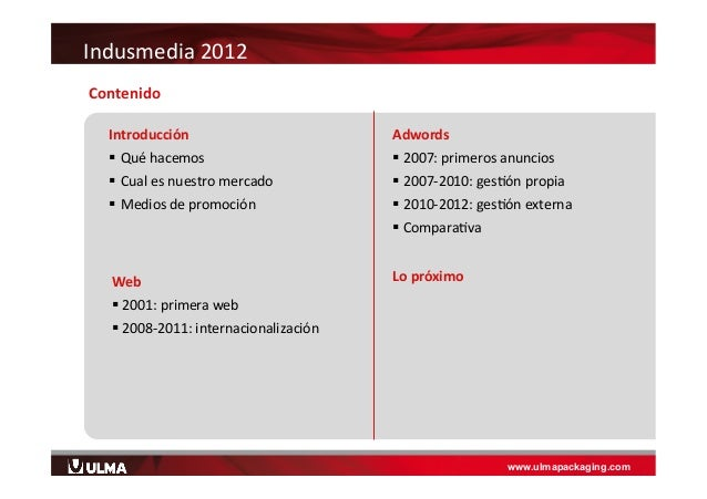 Indusmedia 2012. Ulma packaging    Slide 2