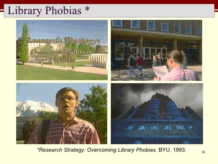 Library Phobias * *Research Strategy: Overcoming Library Phobias . BYU. 1993.