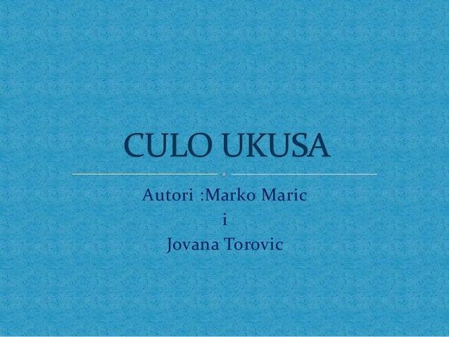 Autori :Marko Maric         i  Jovana Torovic
