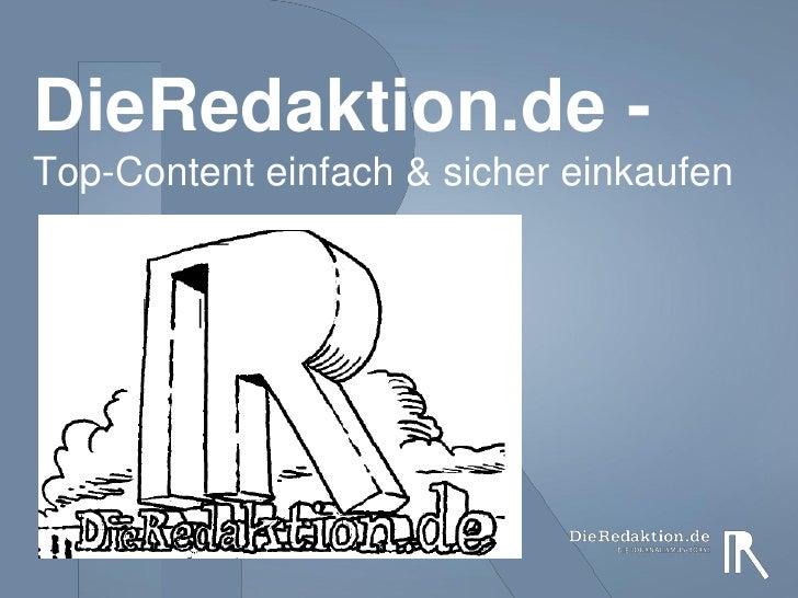DieRedaktion.de -Top-Content einfach & sicher einkaufen