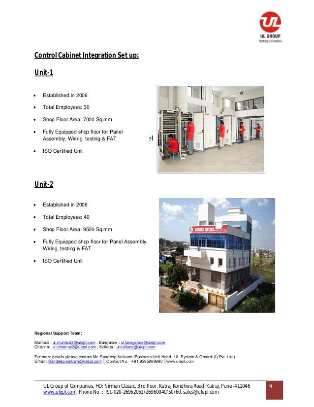 Ul Automation System And Control Company Profile And
