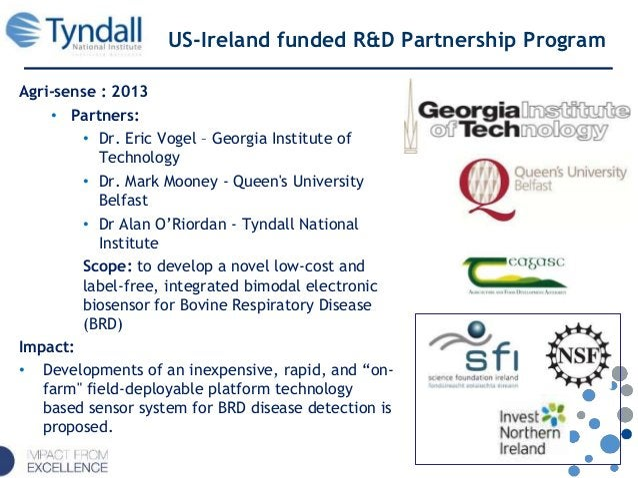 US-Ireland funded R&D Partnership Program Agri-sense : 2013 • Partners: • Dr. Eric Vogel – Georgia Institute of Technology...