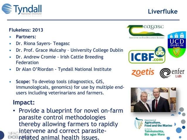 Liverfluke Flukeless: 2013 • Partners: • Dr. Riona Sayers- Teagasc • Dr. Prof. Grace Mulcahy – University College Dublin •...