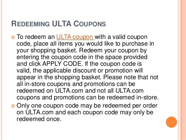 Ulta Online Coupons Printable Instore Coupons