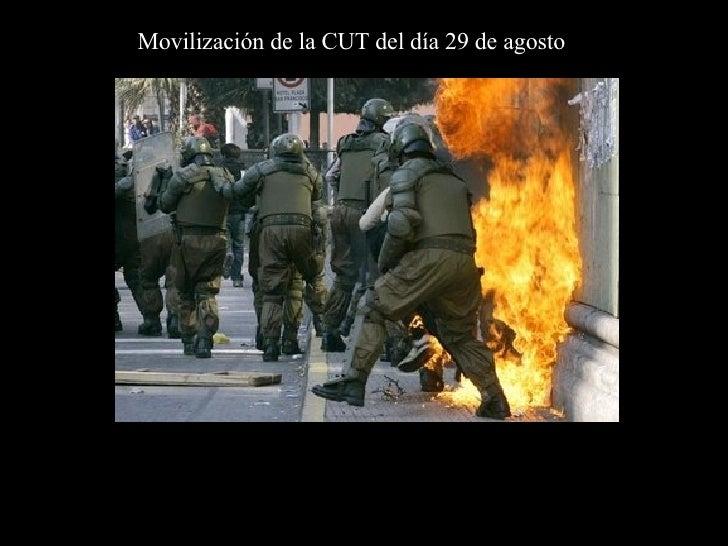 Movilización de la CUT del día 29 de agosto