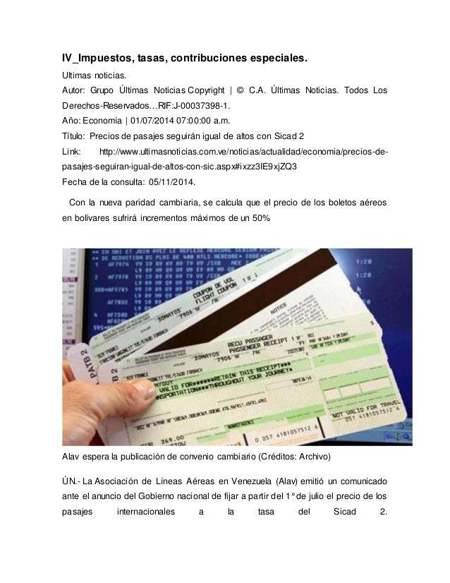 IV_Impuestos, tasas, contribuciones especiales.  Ultimas noticias.  Autor: Grupo Últimas Noticias Copyright | © C.A. Últim...