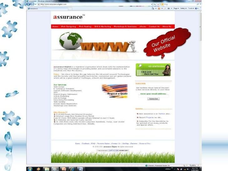 assurance Digital-Web Designing and Hosting slideshare - 웹