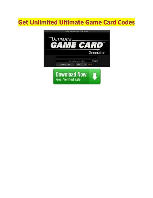 The ultimate game card can be obtained from several online web pages. These cards are void of anycharges or demands. The u...