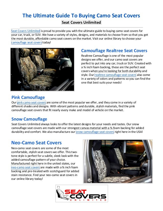 Surprising The Ultimate Guide To Buying Camo Seat Covers Dailytribune Chair Design For Home Dailytribuneorg
