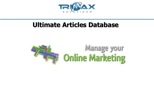 Ultimate Articles Database