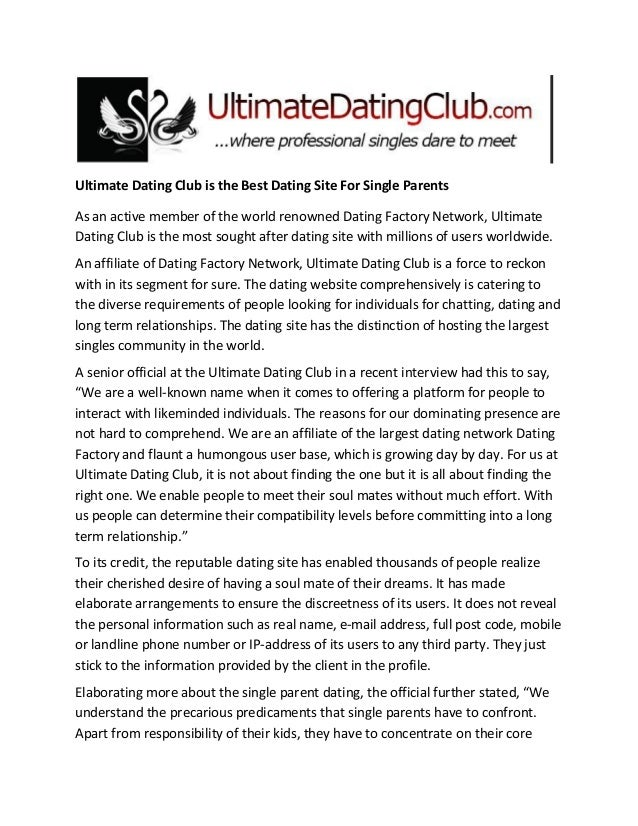ultimate dating sites