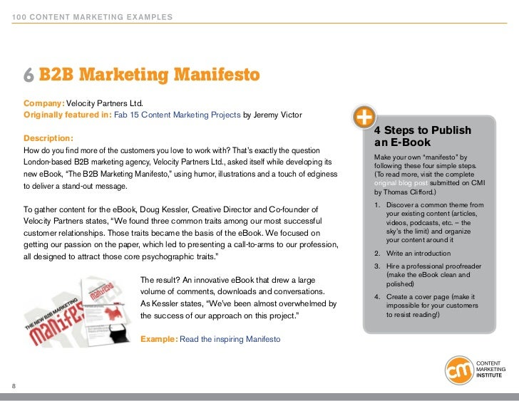 6 B2B Marketing Manifesto Company: