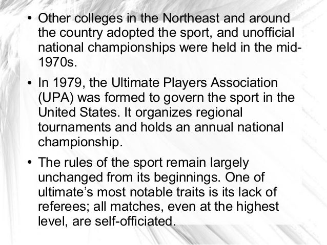 ●   Other colleges in the Northeast and around    the country adopted the sport, and unofficial    national championships ...