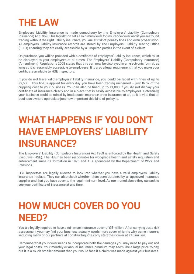 Ultimate Guide To Employers Liability Insurance Constructaquote