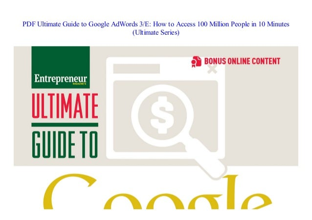 Ultimate Guide To Google Adwords Perry Marshall Pdf