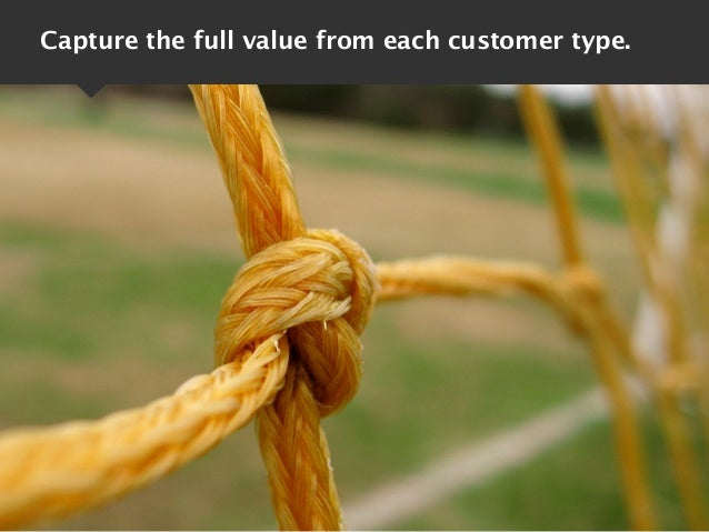Capture the full value from each customer type.