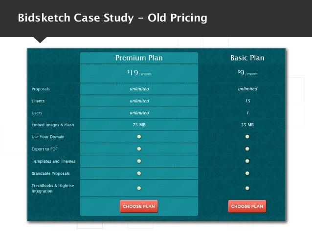Bidsketch Case Study - Old Pricing