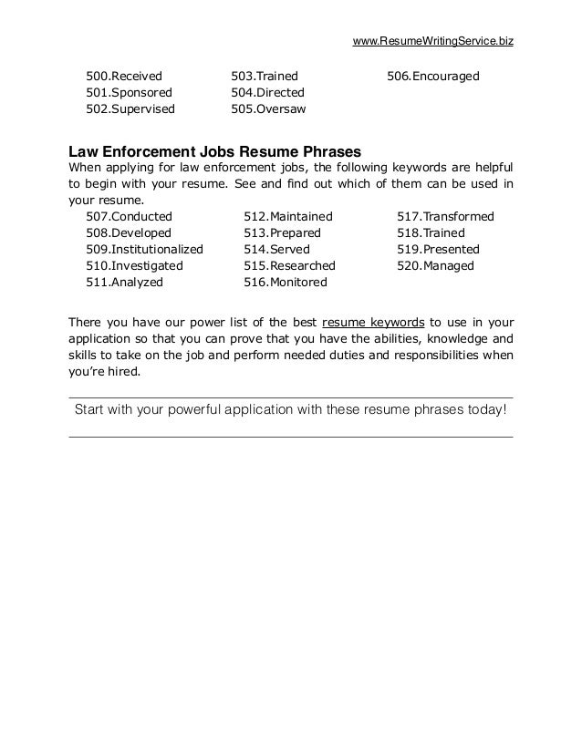 Pioneered; 9. Www.  Resume Keywords List
