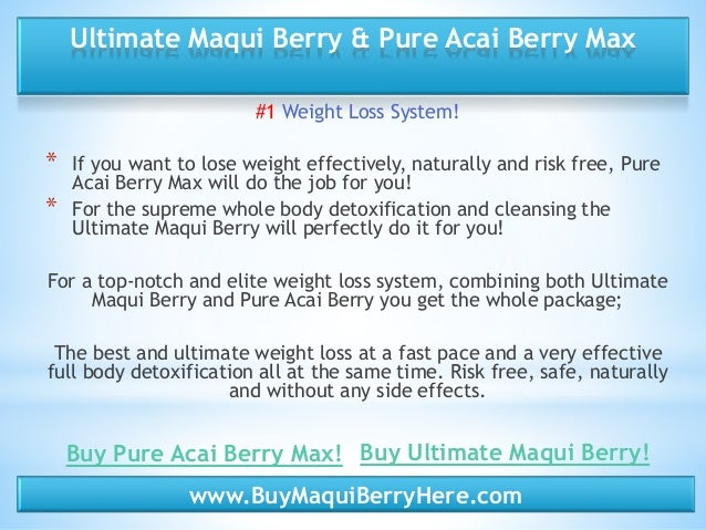 Ultimate maqui berry side effects