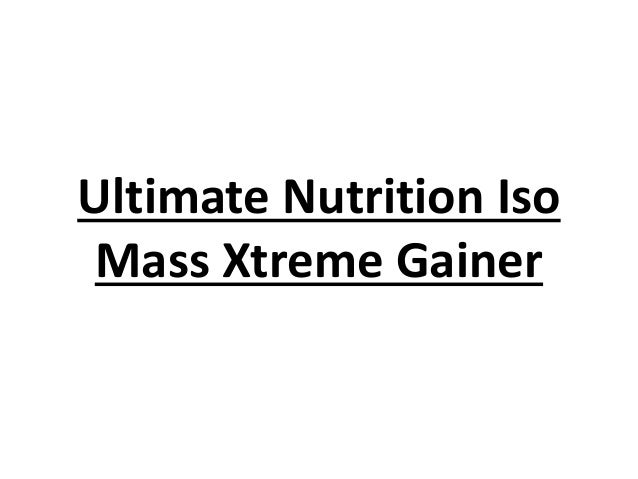 Ultimate Nutrition Iso Mass Xtreme Gainer
