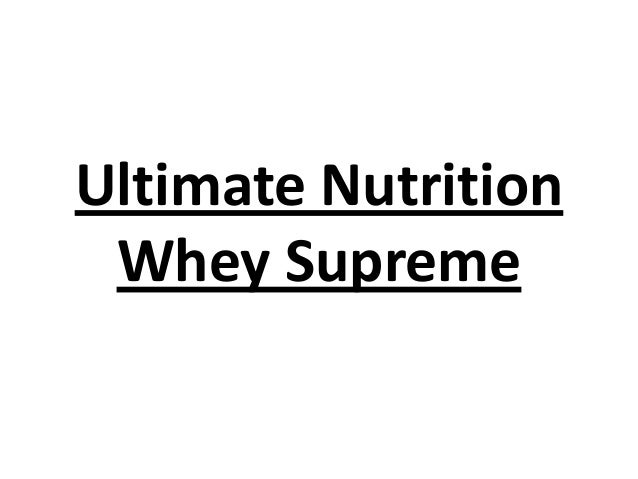 Ultimate Nutrition Whey Supreme