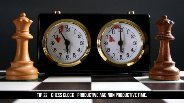 TIP 22 - Chess Clock - productive and non productive time.