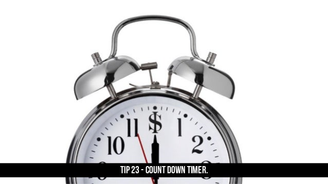 TIP 23 - Count down timer.
