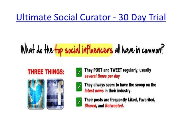 Ultimate Social Curator - 30 Day Trial