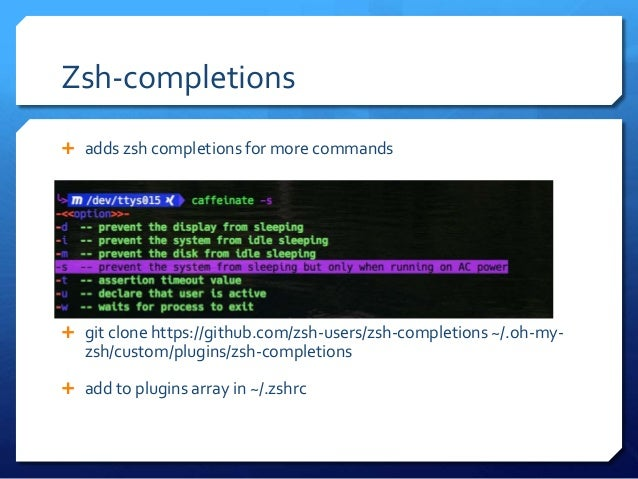 Zsh completions install ubuntu
