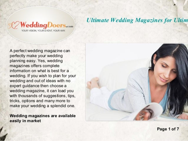 ultimate wedding magazines for ultimate planning wedding vendors worldwide 2