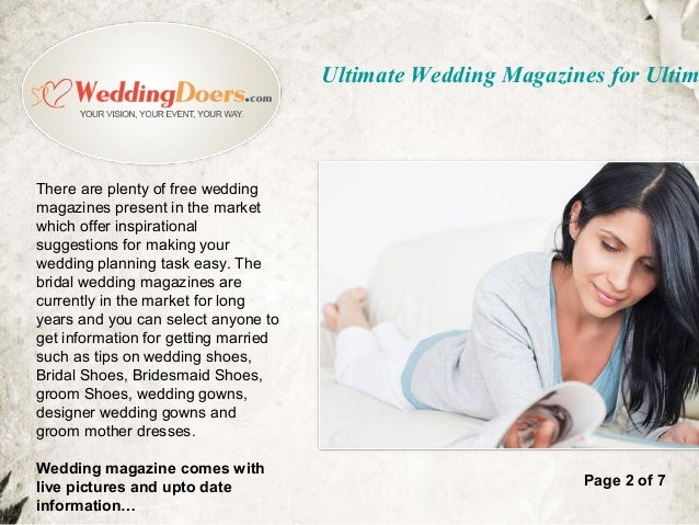 Ultimate wedding magazines for ultimate planning wedding magazines are available easily in market page 1 of 7 3 junglespirit Gallery