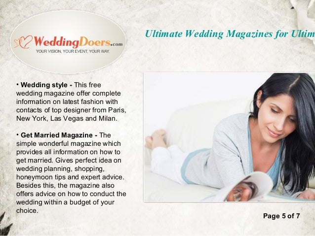 Ultimate wedding magazines for ultimate planning page 4 of 7 ultimate wedding magazines for ultim 6 junglespirit Images