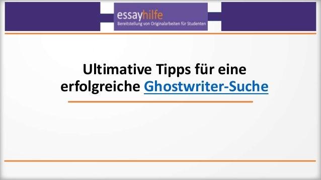 Ultimative Tipps für eine erfolgreiche Ghostwriter-Suche