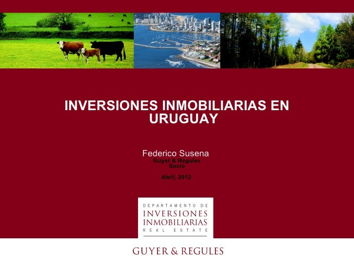 INVERSIONES INMOBILIARIAS EN          URUGUAY         Federico Susena           Guyer & Regules               Socio       ...
