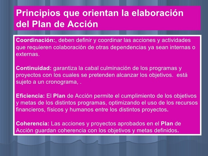 Plan accion ppt Slide 2