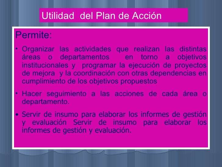 Plan accion ppt Slide 3