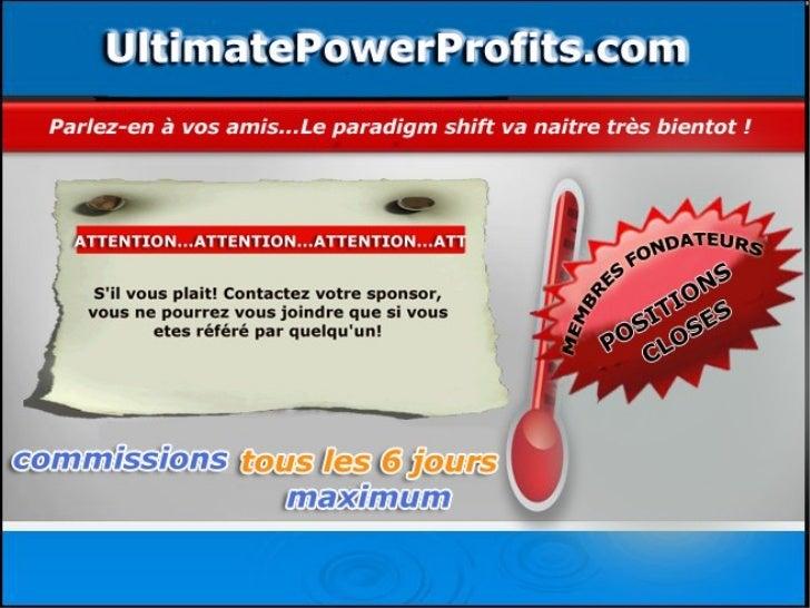 Ultmate powerprofits affiliés français