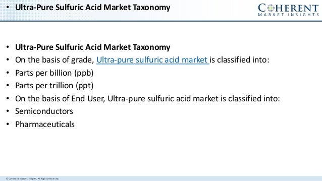 Depth Research of Ultra-pure Sulfuric Acid Market forecast from 2017 to 2025 Slide 3