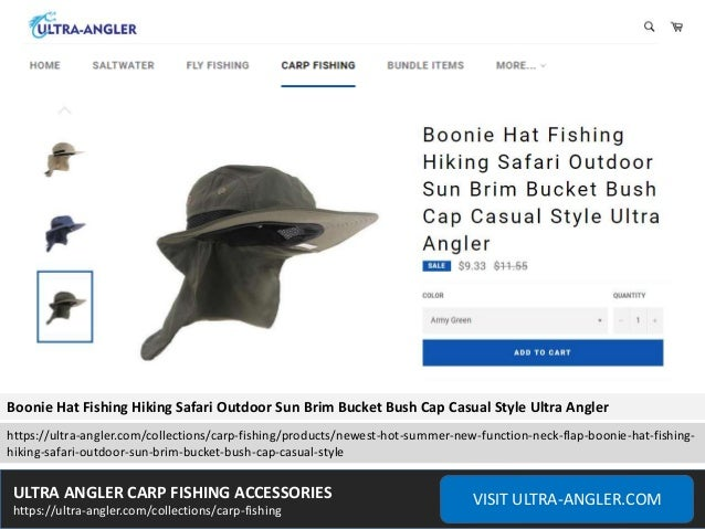 e10b76dbf6b Boonie Hat Fishing Hiking Safari Outdoor Sun Brim Bucket Bush Cap ...