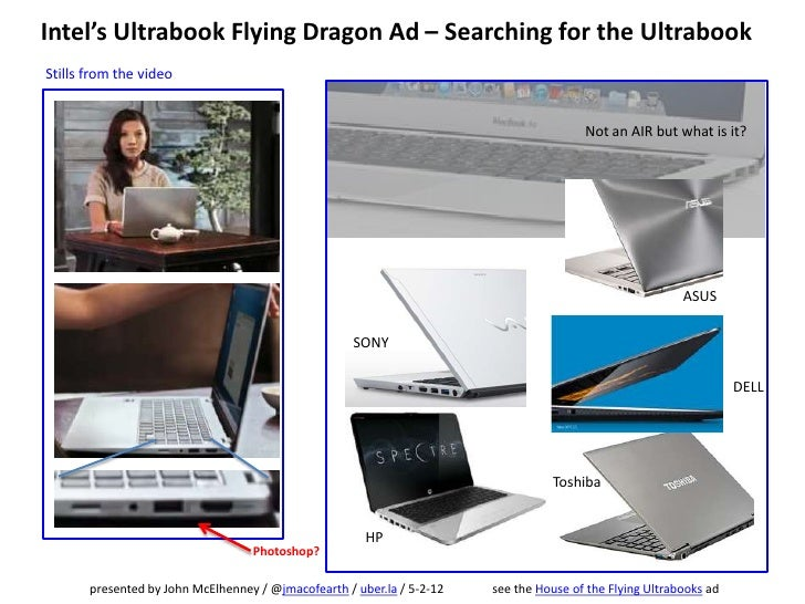 Intel's Ultrabook Flying Dragon Ad – Searching for the UltrabookStills from the video                                     ...