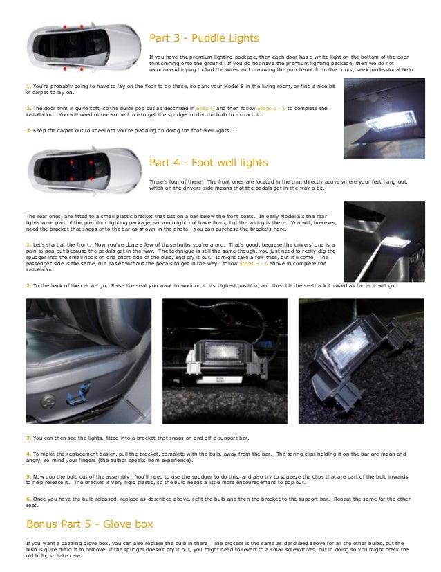 EVANNEX Interior Light LED Replacement Kit for Tesla Model S