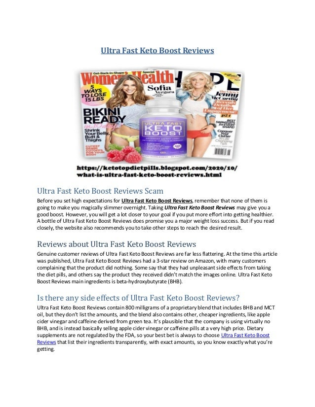 Ultra Fast Keto Boost Reviews Ultra Fast Keto Boost Reviews Scam Before you set high expectations for Ultra Fast Keto Boos...