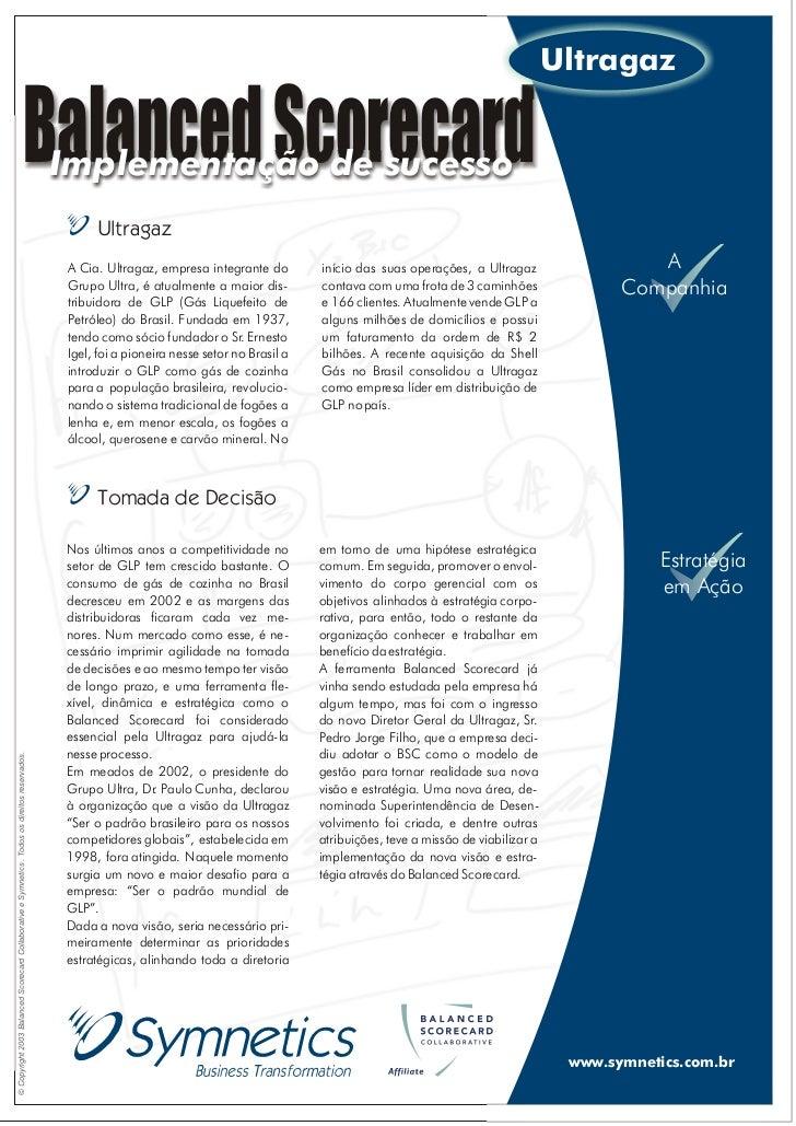 Ultragaz                                                                    Balanced Scorecard          Implementação de s...