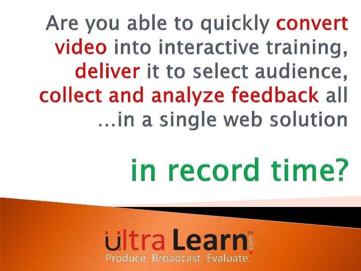 Introduction      Using Videos for Learning      Impact of Interactive Video – a Case Study      Challenges in Video-ba...