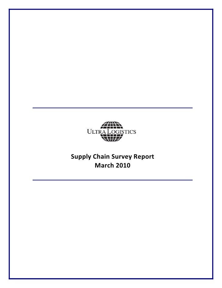 Supply Chain Survey Report         March 2010