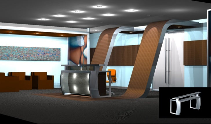 Ultra Modern Reception Area Concept