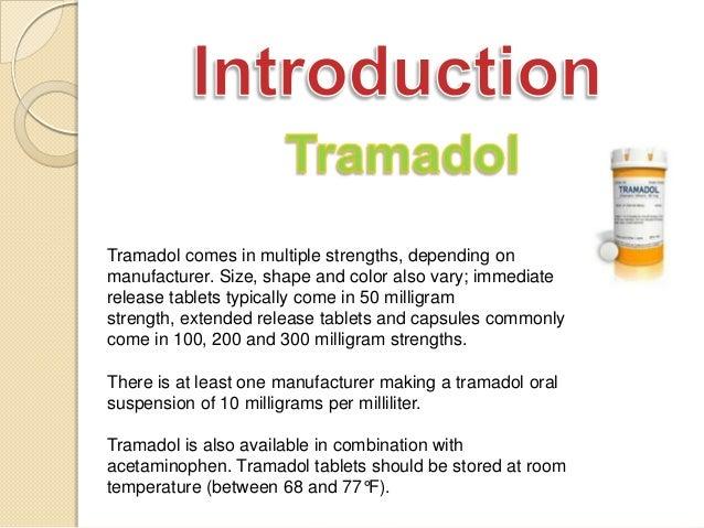 is tramadol an opiate medication strengths based